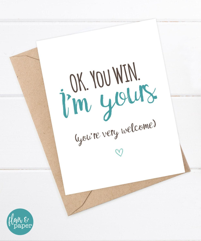 I Love You Card Boyfriend Card Awkward Card Snarky Card: Funny Birthday Card Boyfriend Card Funny Girlfriend Card