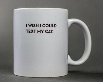 cat text mug. #040