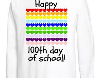 100 days of school shirt, kids 100th day of school Tshirt, Happy 100th day, 100 hearts, one hundred school shirt, 100th day celebration