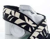 Tiki dSLR Camera Strap with Pocket, Black and Ivory, Geometric, Canon, Nikon, Sony, Pentax, Neck Strap, Mirrorless,  SLR, 104