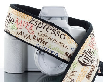 Coffee dSLR Camera Strap, Java, Espresso, Cioccolatto, Coffie, Mirrorless, Canon camera strap, Nikon Camera Strap, SLR, Kaves, Kaffee, 162