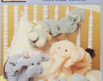 1991 Mc'Call's Creates Toys from Towels Sewing Pattern Leaflet