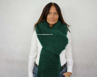 Scarf super kid mohair hand knitted