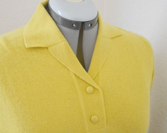 Midcentury Avocado Fitted Wool Sweater- S / M