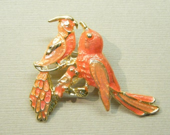Vintage pins, bird brooch, figural pin, animal jewelry, animal pin, enamel pin,  ANIMAL CHARITY DONATION