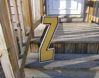 Metal Wall Letter - Z - Industrial Salvage - Reclaimed Vintage - Advertising - Channel Letter