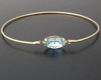 Aquamarine Bracelet, Swarovski Rhinestone, Aquamarine Jewelry, Aquamarine Bangle, Blue Rhinestone Bracelet, Blue Bracelet, Blue Jewelry