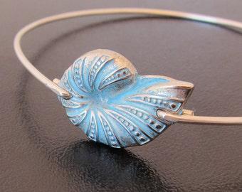 Ammonite Jewelry, Ammonite Bracelet, Nautilus Shell Jewelry, Nautilus Shell Bracelet, Ocean Jewelry, Nautilus Bracelet, Nautilus Jewelry