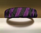 Black and Purple striped headband