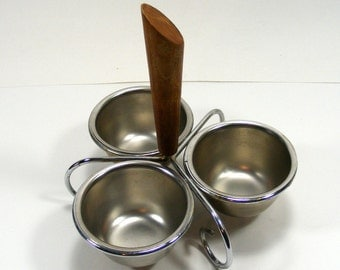 Condiment Server Set or Ice Cream Party Toppings Server