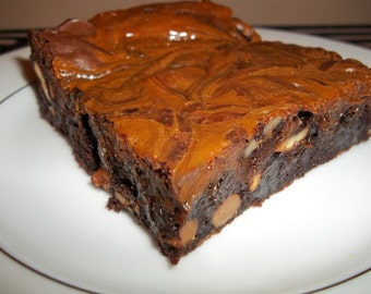 Caramel Cashew Brownies
