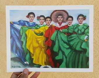 Ballet Folklorico - art print - chicano art - chicano arte - mexican art - mariachi - cultural art - home decor - hecho en mexico