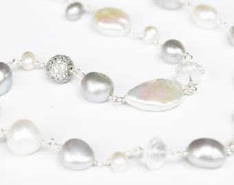 Wedding Necklace, Long Wedding Necklace, Long Bridal Necklace, Long Bride Necklace, Wedding Jewelry, Wedding Necklace, Wedding Accessories