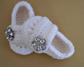 Baby Girl Shoes, Button Loafers, White Shoes, 5 Sizes & Many Colors Available