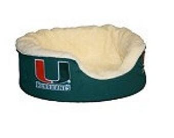 Miami Hurricanes Custom Dog Bed