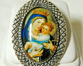 Our Lady of Mount Carmel brooch/pin - BR10-017