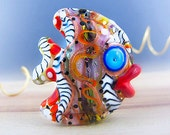 Funky Fish - Sculptured Fish - Glass Art - Lampwork - by Michou P. Anderson