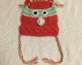 12-18 months hand knitted baby hat pink braided girls toddler children cotton baby shower birthday xmas gift idea
