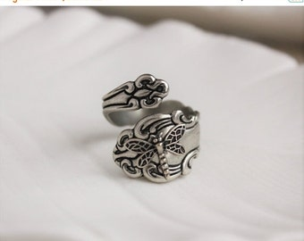 SALE Dragonfly Spoon Ring