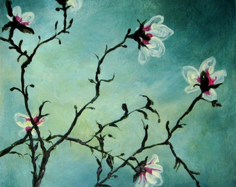Magnolia (Original painting SOLD) - print available