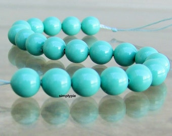 Seafoam Jade Pearls Swarovski Crystal Beads 6mm 20 Round Genuine Swarovski