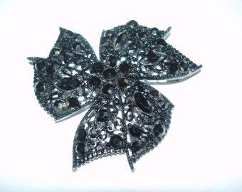 Jet Black Brooch
