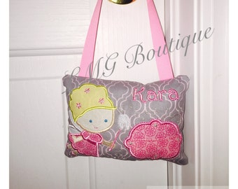 Personalized Girls Tooth Fairy Pillow, Girl embroidered tooth fairy pillow Girl tooth fairy pillow, Tooth pillow, Custom tooth pillow