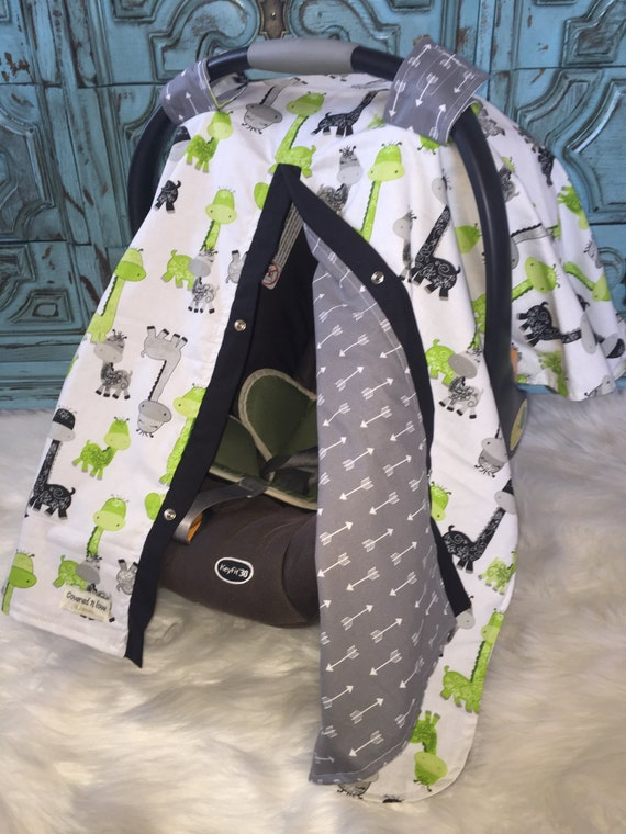 Carseat Canopy Giraffe and Arrow  / Car seat cover / car seat canopy / carseat cover / carseat canopy / nursing cover