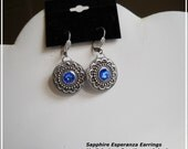 swarovski Crystal Earrings, art nouveau vintage style, mypricelesscreations original,