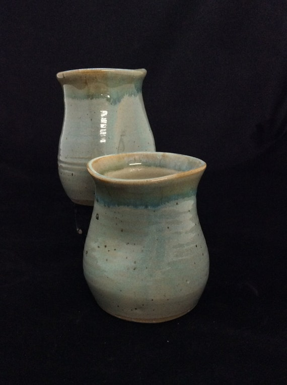 Large Thumblers/ handmade/ Seafoam green Glaze