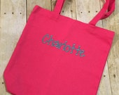 Personalized Canvas Tote - You choose Name Font and Color