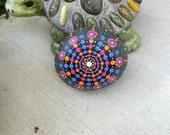 Original Dotty Mandala Rock
