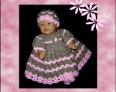 baby dress, doll clothes,  preemie clothes,  crochet baby dress,  crochet doll clothes,  preemie dress,  baby clothes, doll dress