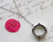 Glass Memory Keepsake Shake Locket Floating Y Necklace - Stainless Steel, Yellow Gold, or Rose Gold Plated - Nickel Free