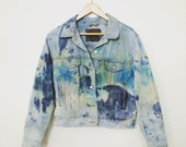 Upcycled Vintage Levi's Jean Jacket - Hand-Dyed - Size Medium - M