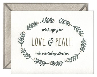 Love and Peace letterpress card