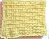 Crocheted Baby Blanket, Yellow,  Unisex, Baby Shower Gift, Afghan, Gender Neutral
