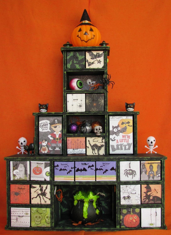 Halloween Apothecary Cabinet Kids Halloween Advent Calendar