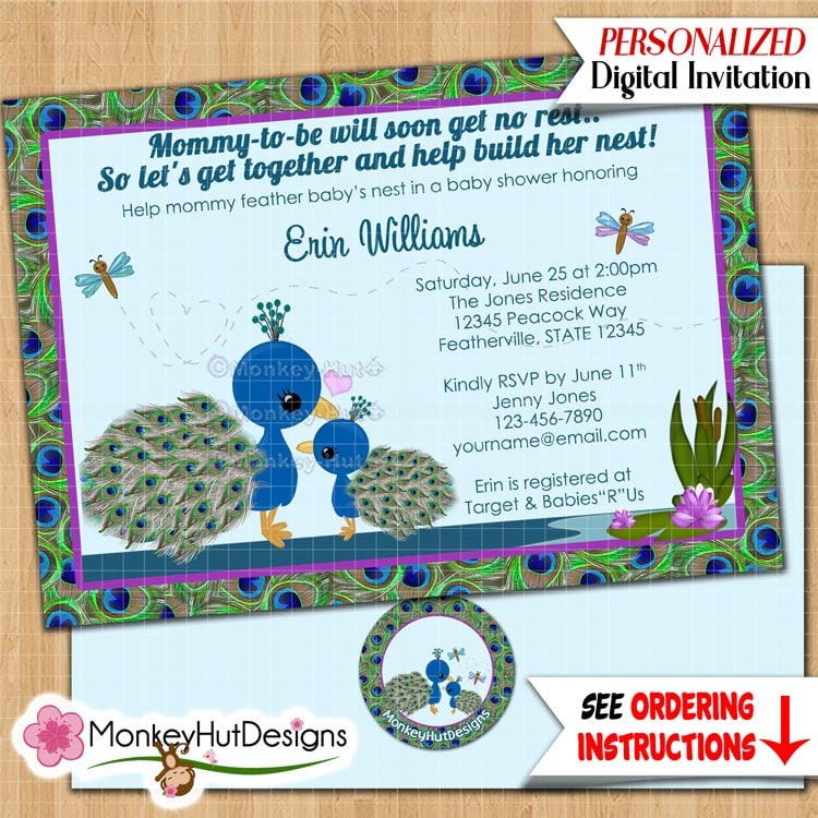 peacock baby shower popular items for peacock baby shower on etsy