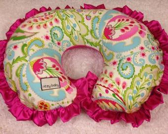 Kumari Garden Nursing Pillow Cover, Nursing Pillow Covers, Kumari Teja Pink