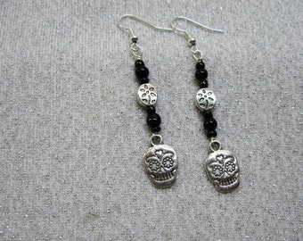 Dia de los Muertos Day of the Dead Dangle Earrings