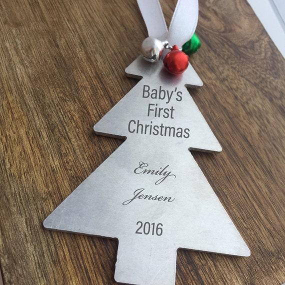 Babys first christmas ornament holiday decor by for Babys first christmas decoration