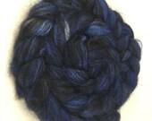 Spinning Fiber - Alpaca & Tussah Silk Combed Top - Midnight roving
