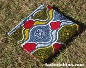 West African Wax Cotton Print Fabric - African Ankara Fabric - Aries