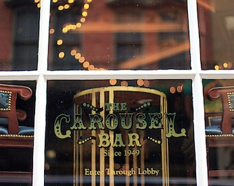 "New Orleans ""Carousel Bar"" Photography, French Quarter Sign,  Photo Print. Mardi Gras, Wall Art, Home Decor"