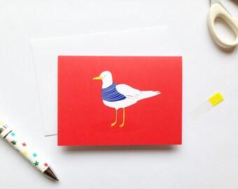 Seagull - Bird Card - Blank