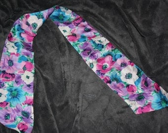beautiful vintage spring floral narrow scarf tie