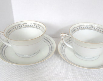 Narumi Occupied Japan Cup and Saucer Sets - Laurel Pattern - Two (2) Sets Available