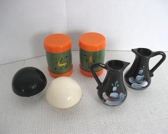 Lot of Three (3) Vintage Plastic Salt and Pepper Shaker Sets