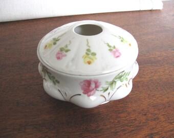 Antique Porcelain Hair Receiver - M Z Austria